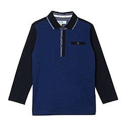 Baker by Ted Baker - Boy's navy pique front polo top