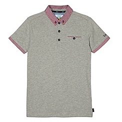 Baker by Ted Baker - Boy's grey geometric trim polo shirt