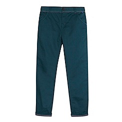 Baker by Ted Baker - Babies green ribbed waist chinos