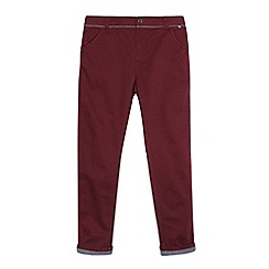 Baker by Ted Baker - Boy's wine woven trim peg leg chinos
