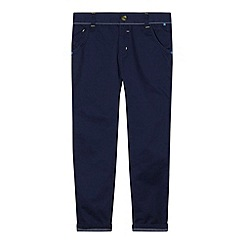 Baker by Ted Baker - Boy's navy woven trim peg leg chinos