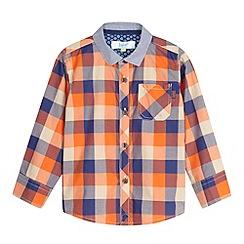 Baker by Ted Baker - Boy's orange block checked shirt