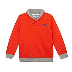 Baker by Ted Baker - Boy's orange shawl neck sweat top