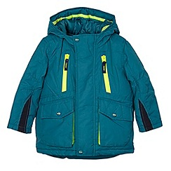 Baker by Ted Baker - Boy's dark turquoise 2-in-1 coat