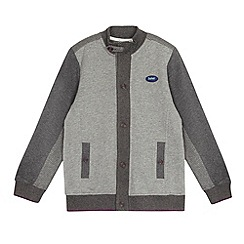 Baker by Ted Baker - Boy's grey button through panel sweat cardigan