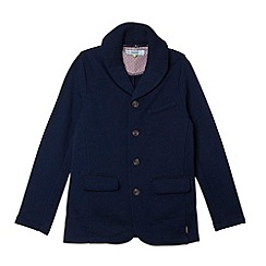 Baker by Ted Baker - Boy's navy ribbed collar sweat blazer