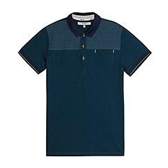 Baker by Ted Baker - Boy's dark turquoise spot trim polo shirt