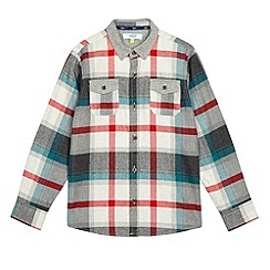 Baker by Ted Baker - Boy's grey checked chest pocket shirt