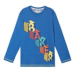 Baker by Ted Baker - Boy's blue logo graphic long sleeved top