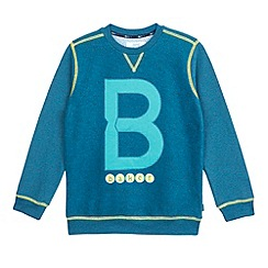 Baker by Ted Baker - Boy's turquoise logo jumper
