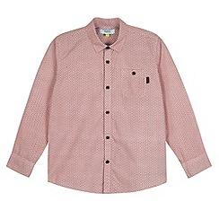 Baker by Ted Baker - Boy's red geometric print shirt