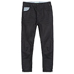 Baker by Ted Baker - Boy's grey coated zip fastening jeans