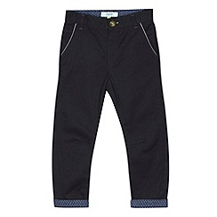 Baker by Ted Baker - Boy's dark grey herringbone trousers