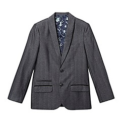 Baker by Ted Baker - Boy's dark grey herringbone suit jacket