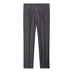 Baker by Ted Baker - Boy's dark grey herringbone suit trousers