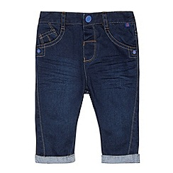 Baker by Ted Baker - Boy's blue geometric cuffed jeans