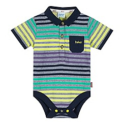 Baker by Ted Baker - Babies navy striped polo bodysuit