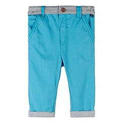 Baker by Ted Baker - Babies turquoise textured slim trousers