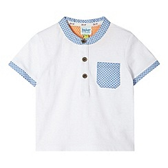 Baker by Ted Baker - Babies white textured pocket t-shirt