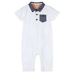 Baker by Ted Baker - Babies white textured romper suit