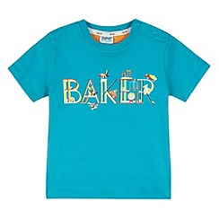 Baker by Ted Baker - Boy's blue logo jersey top