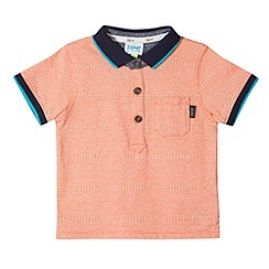 Baker by Ted Baker - Babies orange jacquard striped polo shirt