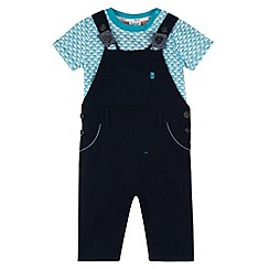 Baker by Ted Baker - Babies navy dungaree and top set