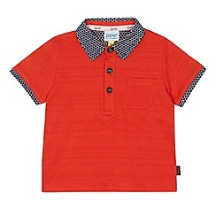 Baker by Ted Baker - Babies red print trim polo shirt