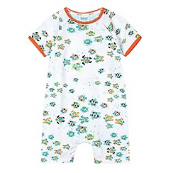 Baker by Ted Baker - Babies white geometric turtle romper suit