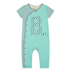 Baker by Ted Baker - Babies turquoise hermit crab printed romper suit