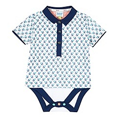 Baker by Ted Baker - Babies navy crab print bodysuit