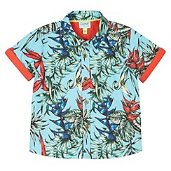 Baker by Ted Baker - Babies blue Hawaiian print shirt