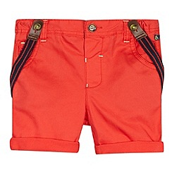 Baker by Ted Baker - Babies red chino shorts with braces