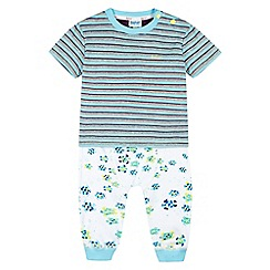 Baker by Ted Baker - Babies blue t-shirt and hareem pants set