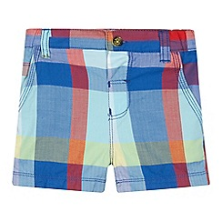 Baker by Ted Baker - Babies blue bright herringbone checked shorts