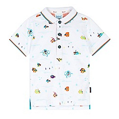 Baker by Ted Baker - Babies white fishes polo shirt