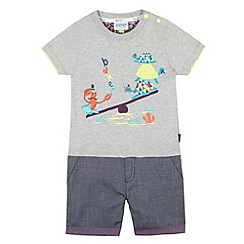 Baker by Ted Baker - Babies grey see saw romper suit