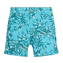 Baker by Ted Baker - Babies turquoise leaf print shorts