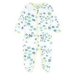 Baker by Ted Baker - Babies white turtle print sleep suit