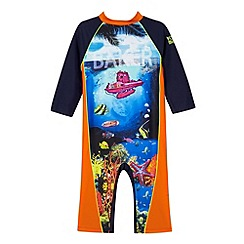 Baker by Ted Baker - Boy's blue deep sea printed rash suit
