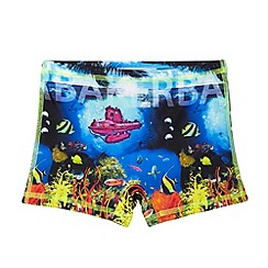 Baker by Ted Baker - Boy's blue deep sea printed swim trunks