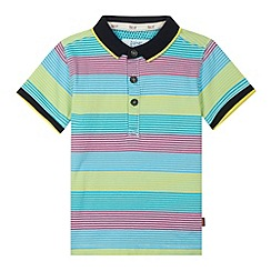 Baker by Ted Baker - Boy's yellow bold striped polo shirt
