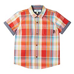 Baker by Ted Baker - Boy's orange textured check shirt