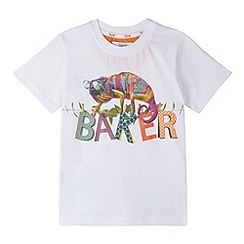 Baker by Ted Baker - Boy's white lizard printed t-shirt