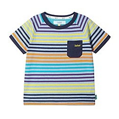 Baker by Ted Baker - Boy's navy multi striped t-shirt