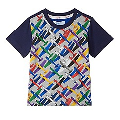 Baker by Ted Baker - Boy's multicoloured aeroplane print t-shirt