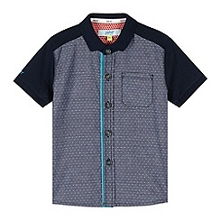 Baker by Ted Baker - Boy's blue woven and jersey shirt