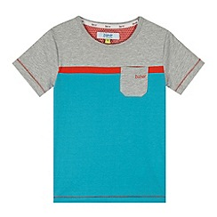 Baker by Ted Baker - Boy's blue colour block t-shirt