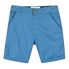 Baker by Ted Baker - Boy's blue birdseye adjustable waistband shorts