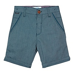 Baker by Ted Baker - Boy's blue birdseye shorts